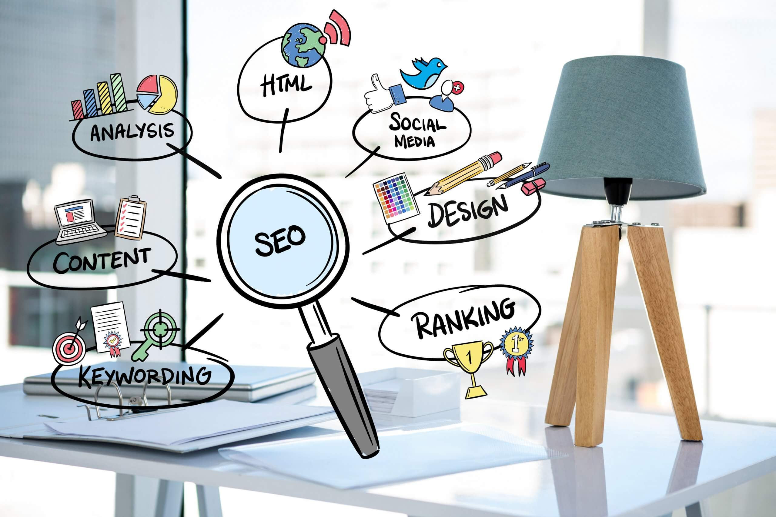 magnifying glass with seo concepts scaled